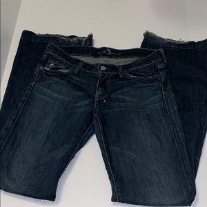 7 for all mankind jeans Dojo flared dark wash 27
